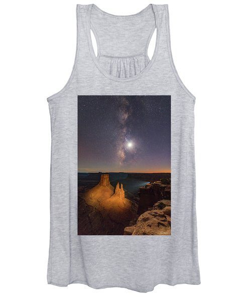 The Milky Way And The Moon From Marlboro Point Women's Tank Top