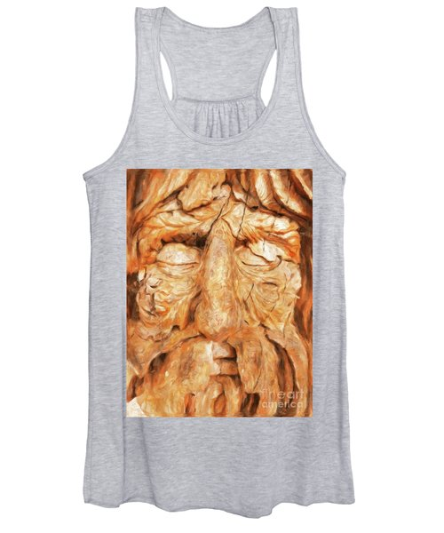The Old Man Of The Woods By Sarah Kirk Women's Tank Top