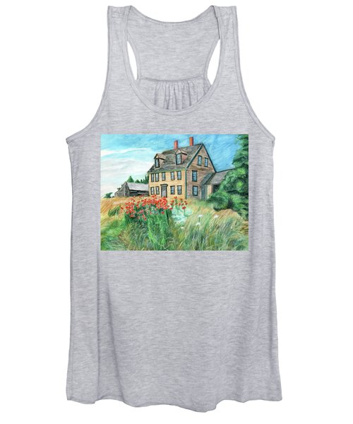 The Olson House With Poppies Women's Tank Top