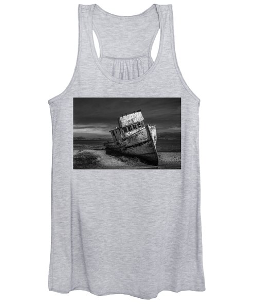 The Point Reyes In Black And White Women's Tank Top