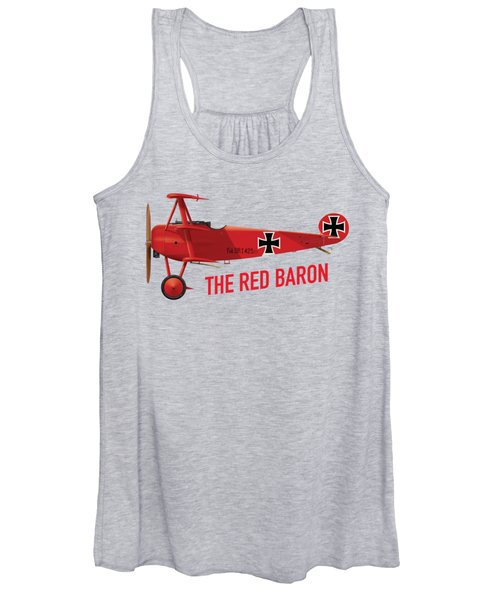 The Red Baron's Fokker Dr.1 - Side Print Women's Tank Top
