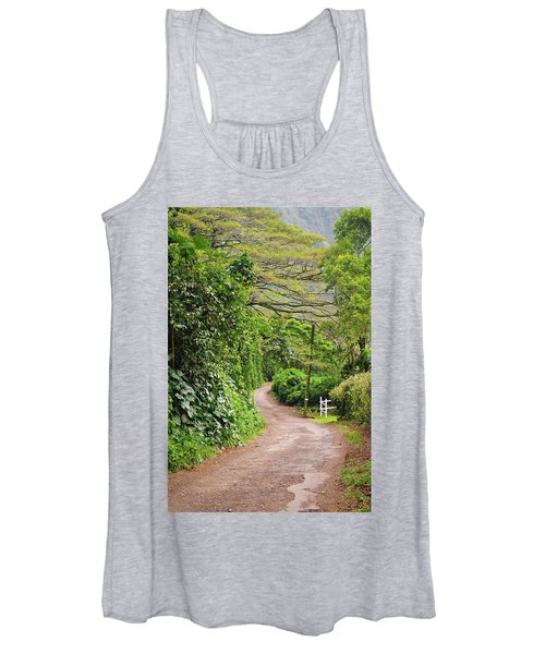 The Road Less Traveled-waipio Valley Hawaii Women's Tank Top