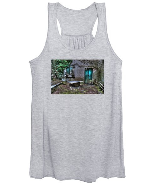 The Round Table House In The Abandoned Village Of The Ligurian Mountains High Way Women's Tank Top