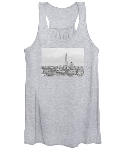 The Shard Outline Poster Bw Women's Tank Top