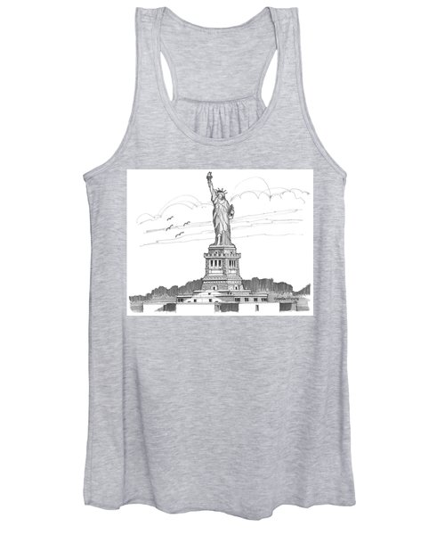 The Statue Of Liberty Lighthouse Women's Tank Top