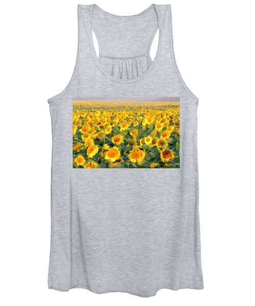 Women's Tank Top featuring the photograph The Sunflower Field by Marla Craven