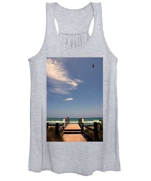 The Way Out To The Beach Women's Tank Top