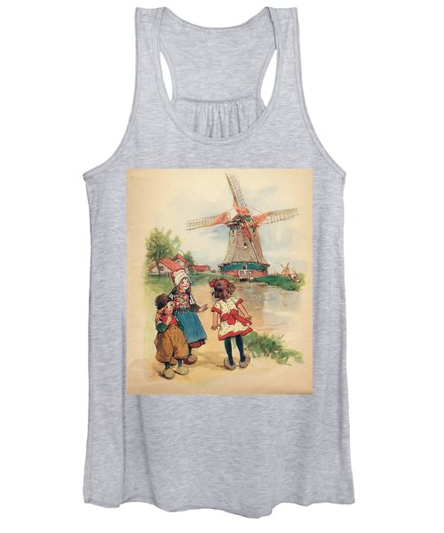 The Windmill And The Little Wooden Shoes Women's Tank Top