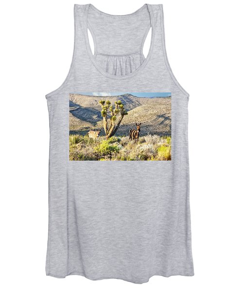 The Zebra Burro Women's Tank Top
