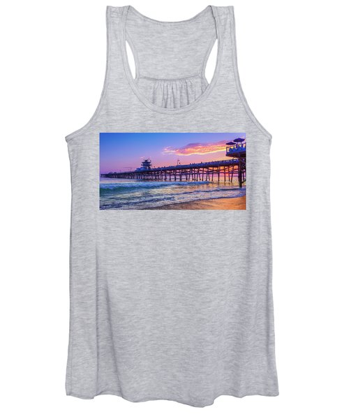 There Will Be Another One - San Clemente Pier Sunset Women's Tank Top