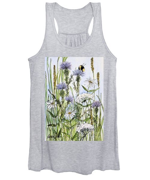 Thistles Daisies And Wildflowers Women's Tank Top