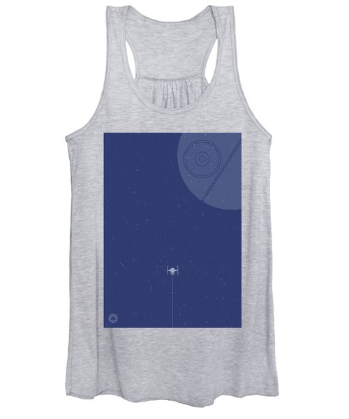 Tie Fighter Defends The Death Star Women's Tank Top