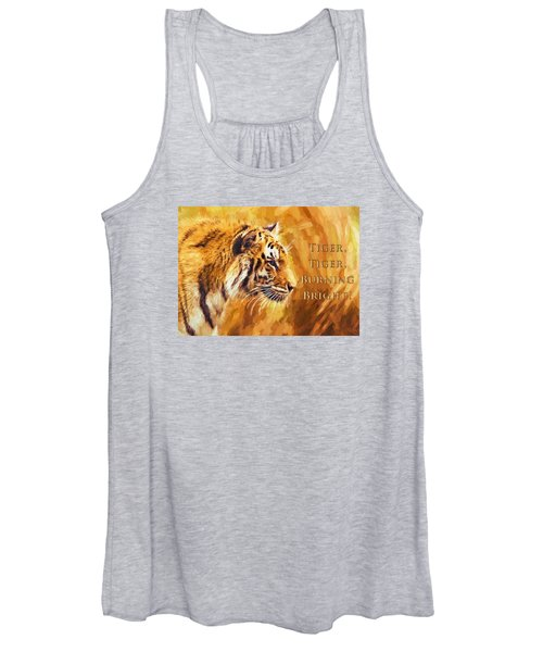 Tiger Tiger Burning Bright Women's Tank Top