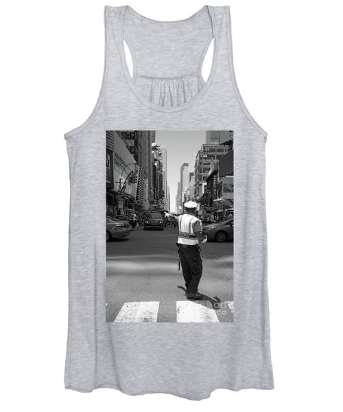 Times Square, New York City  -27854-bw Women's Tank Top
