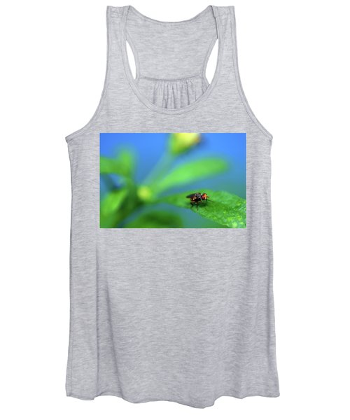Tiny Fly On Leaf Women's Tank Top