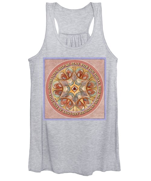 To See As Love Sees Mandala Prayer Women's Tank Top