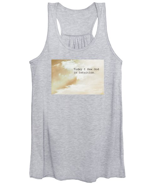 Today I Saw God In Intuition Women's Tank Top