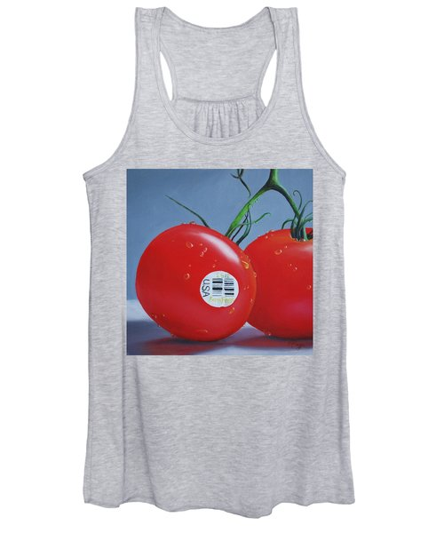 Tomatoes With Sticker Women's Tank Top