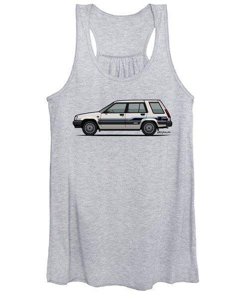 Toyota Tercel Sr5 4wd Wagon Al25 White Women's Tank Top