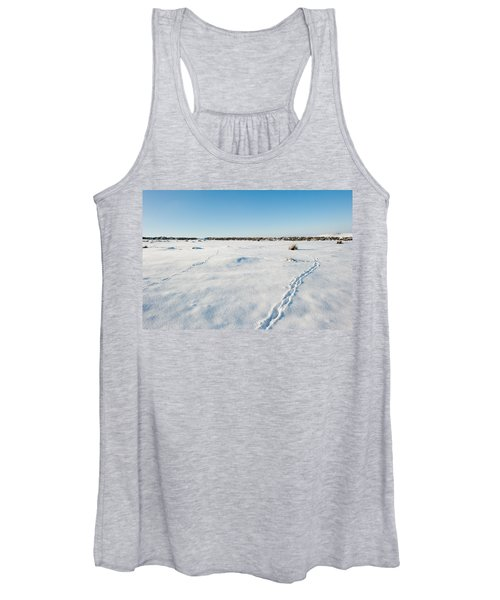 Tracks In The Snow Women's Tank Top