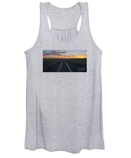 Tracks Into Sunset Women's Tank Top