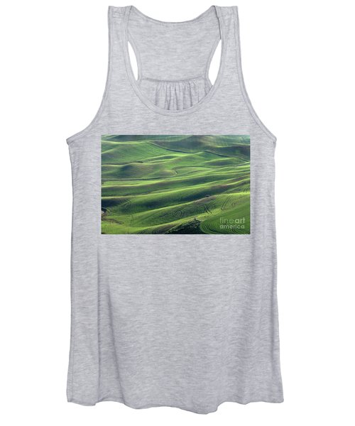 Tractor Tracks Agriculture Art By Kaylyn Franks Women's Tank Top