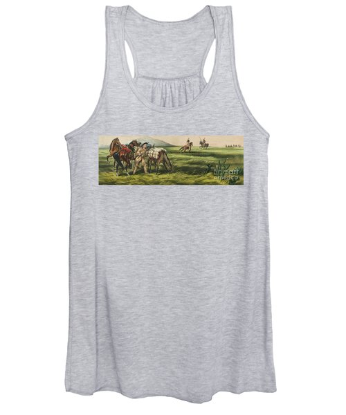 Trappers On The Prairie  Peace Or War Women's Tank Top