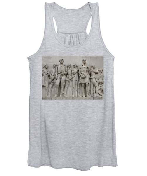 Travis And Crockett On Alamo Monument Women's Tank Top