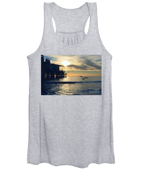 Seagull Pier Sunrise Seascape C1 Women's Tank Top