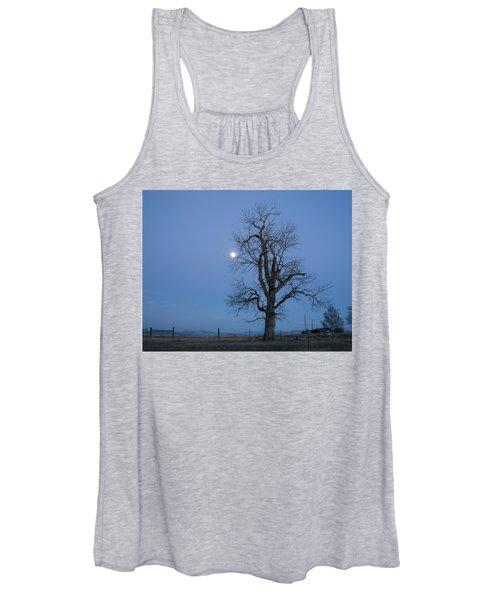 Tree And Moon Women's Tank Top