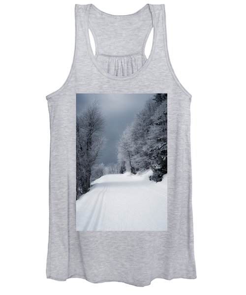 Trees Hills And Snow Women's Tank Top