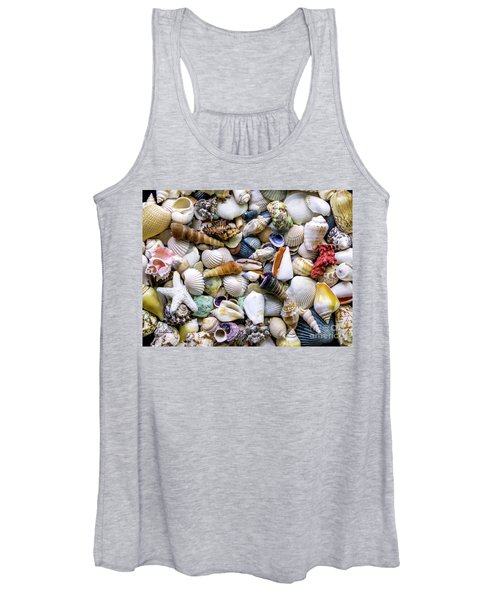 Tropical Beach Seashell Treasures 1500a Women's Tank Top