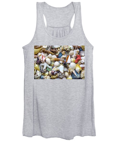 Tropical Beach Seashell Treasures 1529b Women's Tank Top