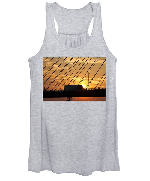 Truck Crossing The Mississippi River Women's Tank Top