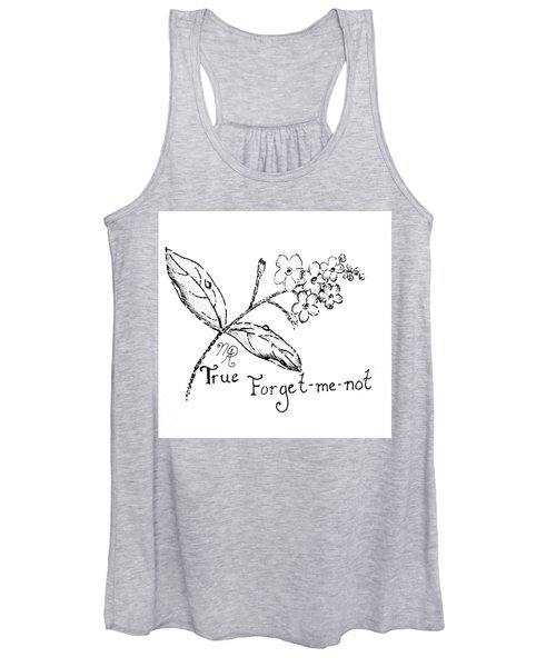 True Forget-me-not Women's Tank Top