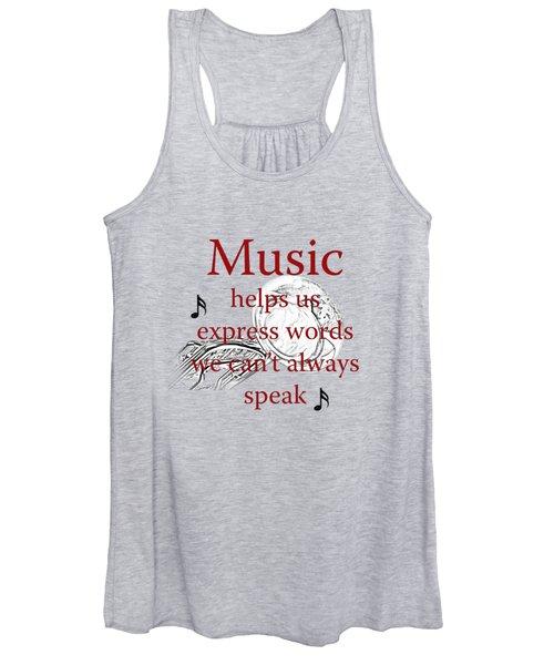 Tuba Music Expresses Words Women's Tank Top