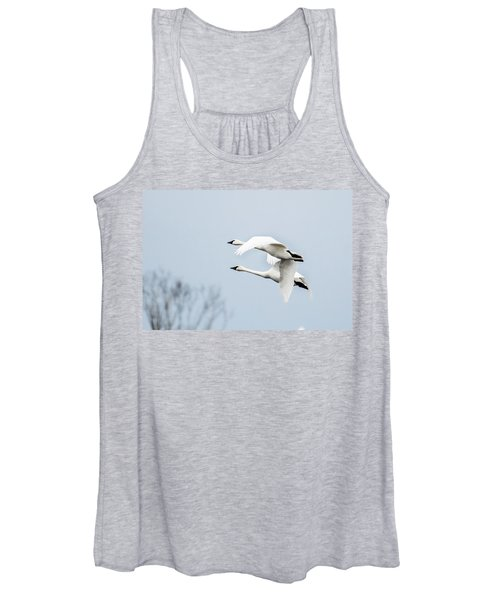Tundra Swan Lift-off Women's Tank Top