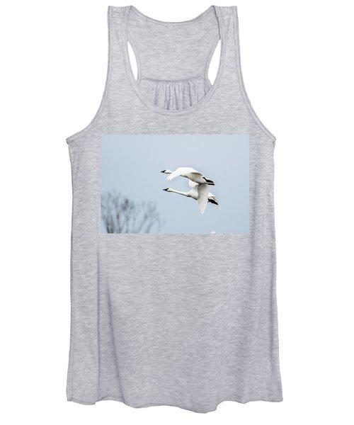 Tundra Swan Lift-off Women's Tank Top