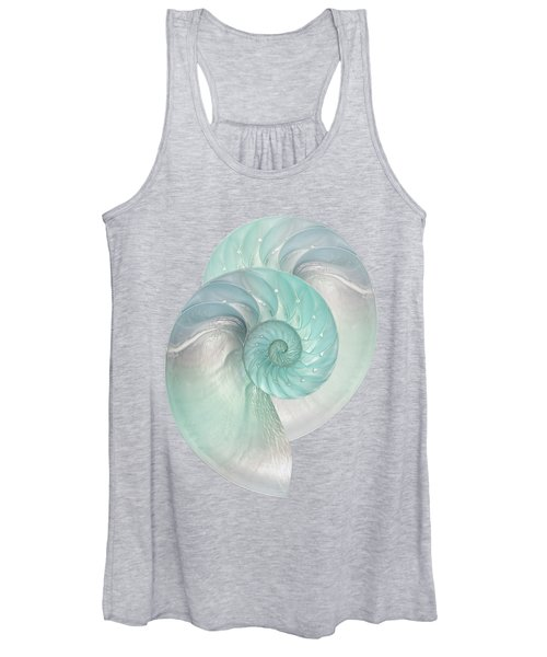 Turquoise Nautilus Pair Women's Tank Top