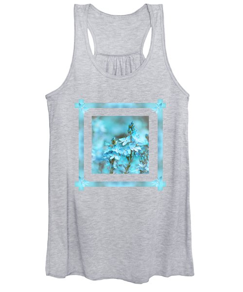Turquoise Ribbons Women's Tank Top