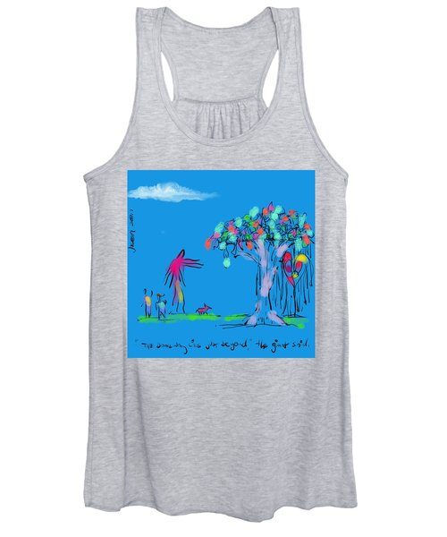 Two Boys, A Dog, And A Giant Women's Tank Top