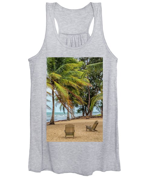 Two Chairs In Belize Women's Tank Top