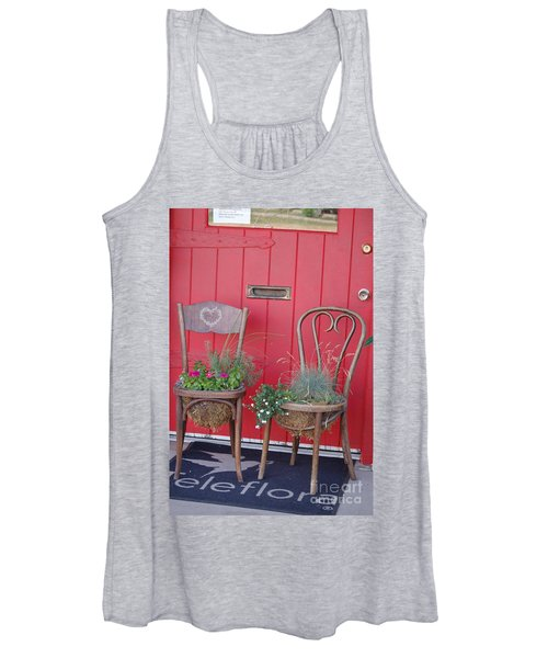 Two Chairs With Plants Women's Tank Top
