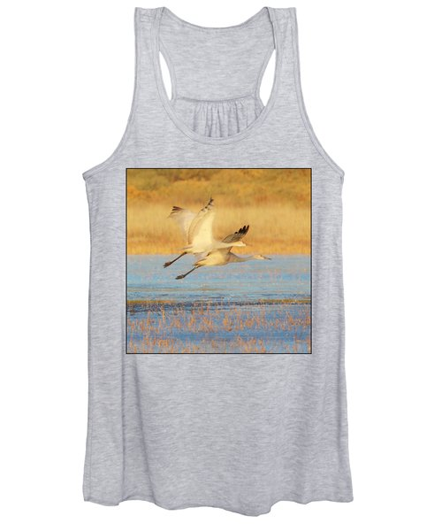 Two Cranes Cruising Women's Tank Top