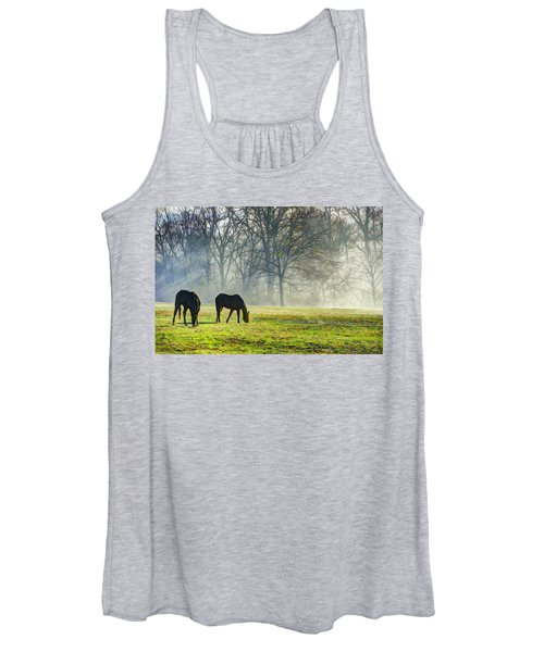 Two Horse Morning Women's Tank Top