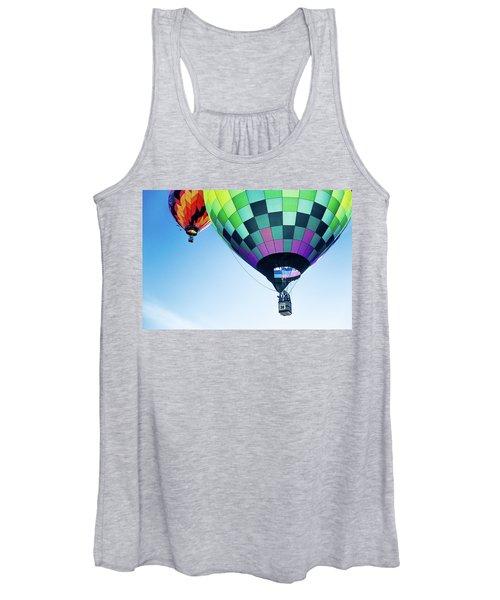 Two Hot Air Balloons Ascending Women's Tank Top
