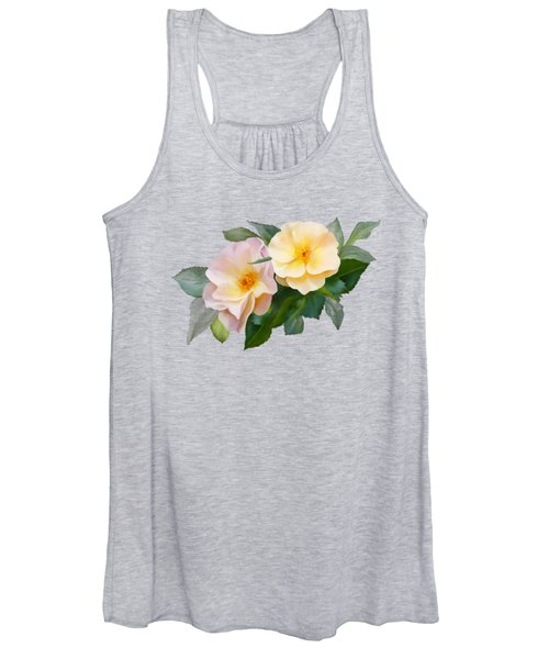 Two Wild Roses Women's Tank Top