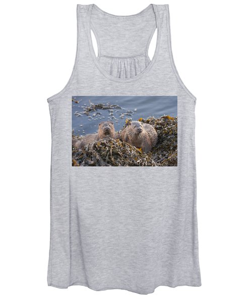Two Young European Otters Women's Tank Top