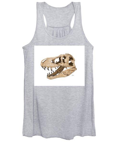Tyrannosaurus Skull Women's Tank Top