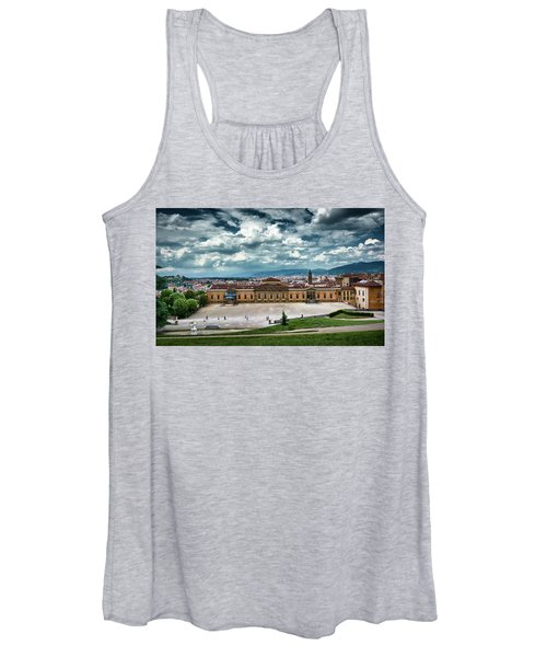 The Meridian Palace And Cityscape In Florence, Italy Women's Tank Top
